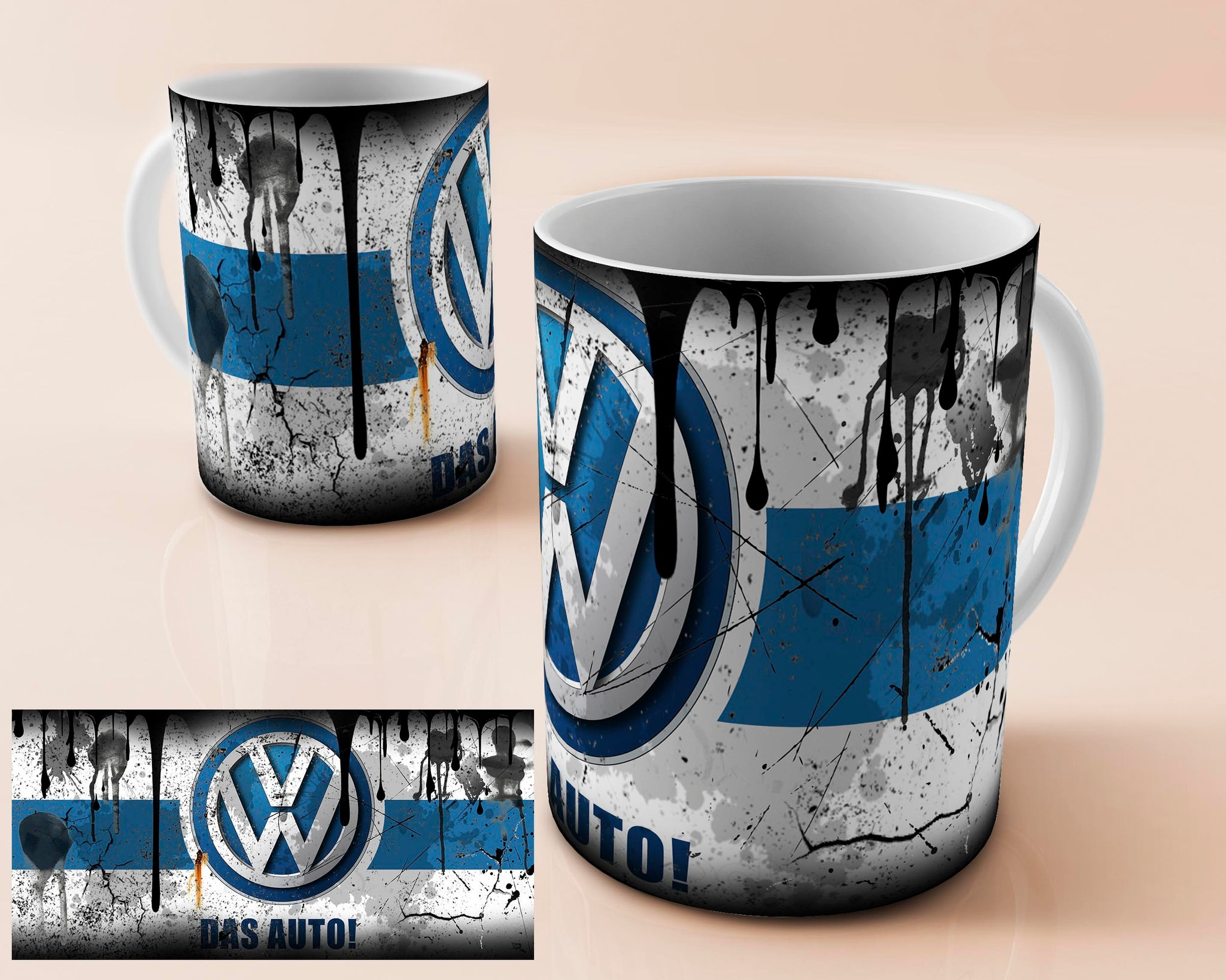 Volkswagen (vw) vintage oil can mug