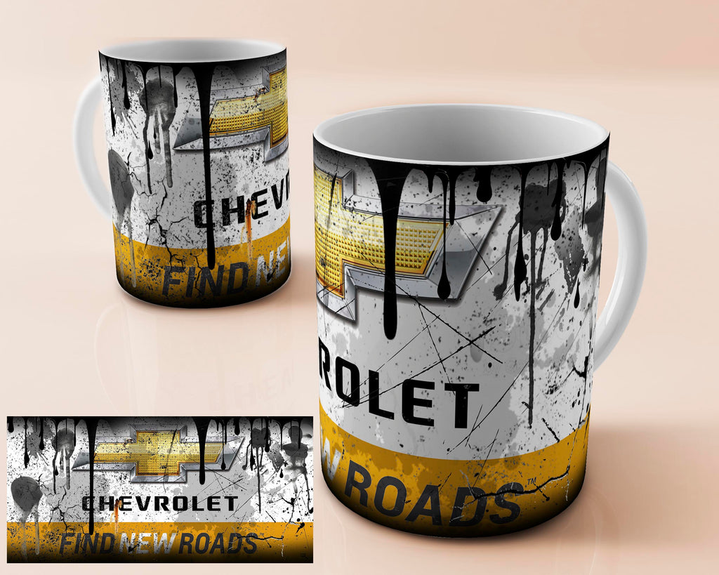 Chevrolet vintage oil can mug