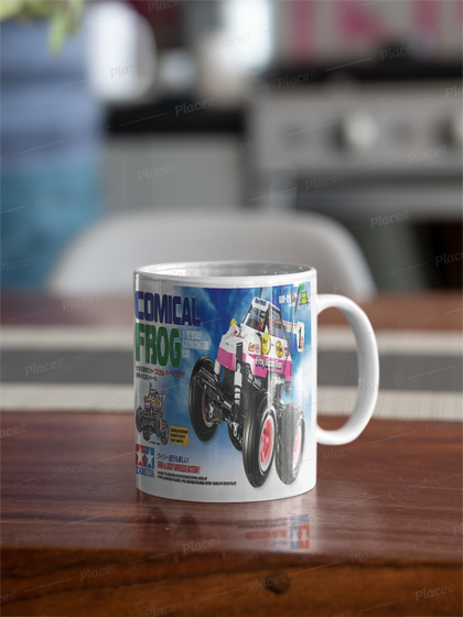Tamiya Comical Frog box art mug