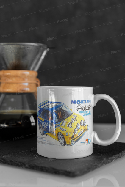 Tamiya escort cosworth box art mug