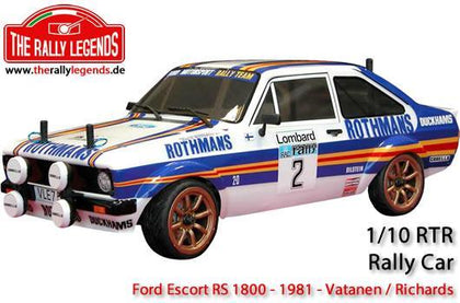 Rally Legend 1/10 Electric - 4WD Rally - ARTR - Waterproof ESC - Ford Escort RS 1800 1981