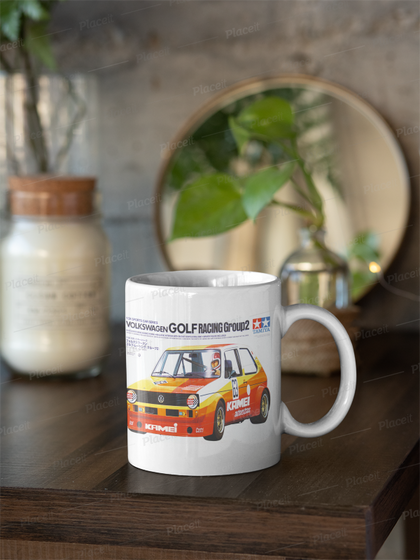 Tamiya golf box art mug