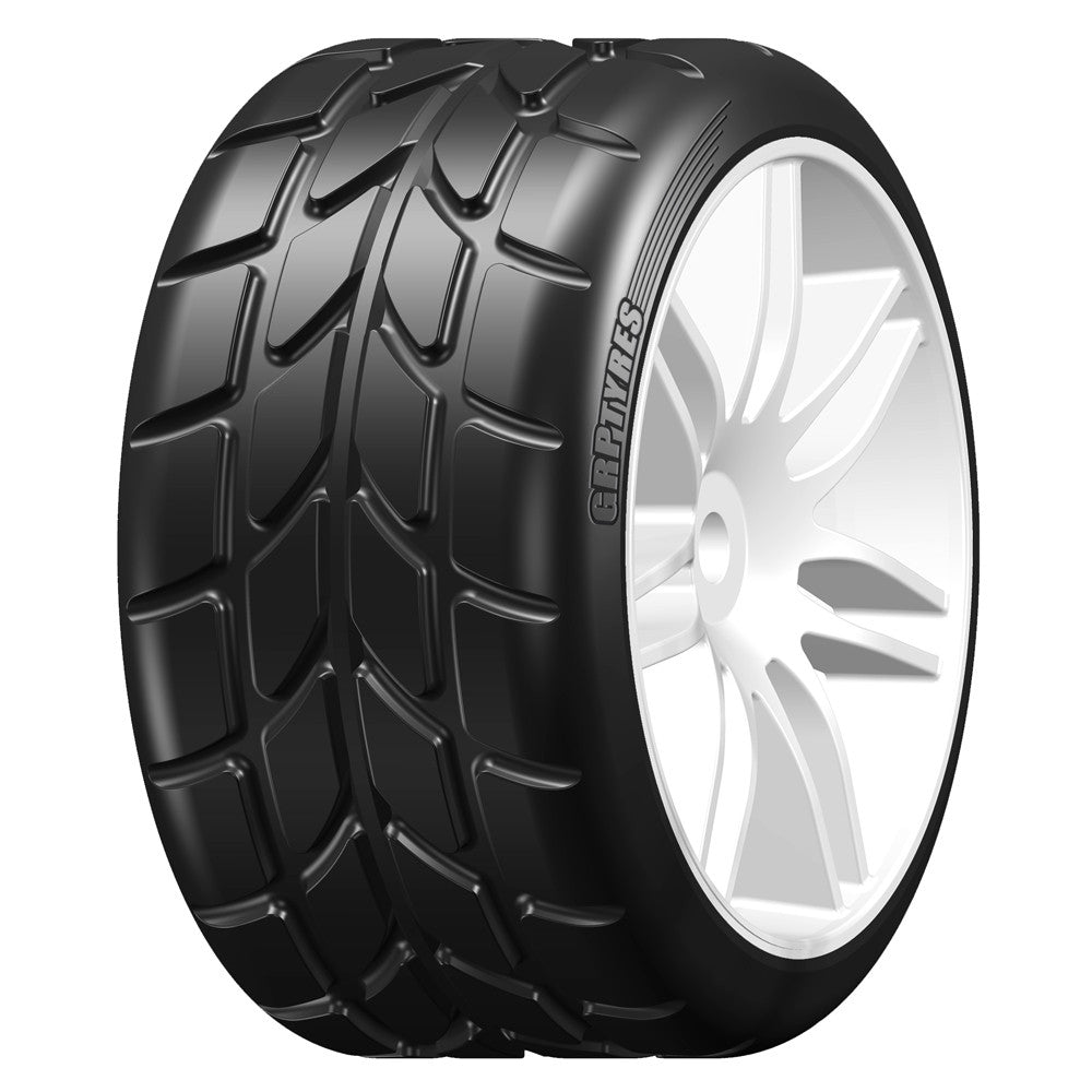 GRP GWH22E 1:5 TC - W22 RAIN - E ExtraSoft Rain - Mounted on White Wheel - 1 Pair