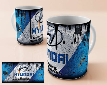 hyundai vintage oil can mug