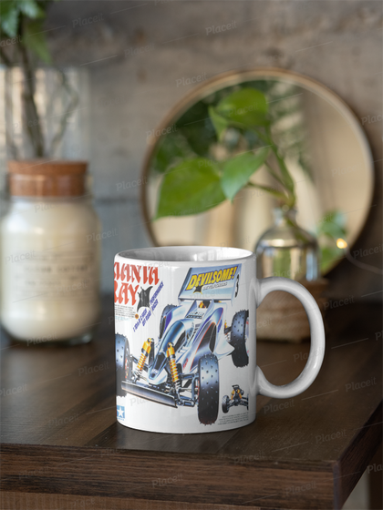 Tamiya Manta ray box art mug