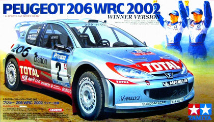 Tamiya Peugeot 206 rally box art mug