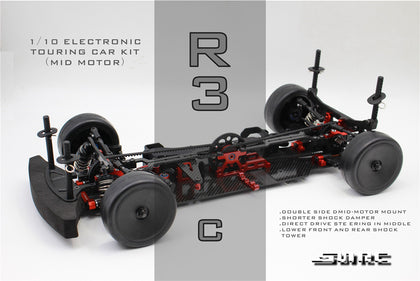 SNRC 120022 R3-CR 1 / 10 standard carbon fiber center electric house frame 4WD