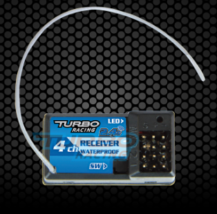 Turbo Racing 2.4GHz 4-Channel Receiver No: RX49  Receiver 4CH 2.4 GHz with Gyro