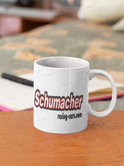 Schumacher racing mug
