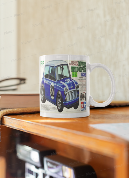 Tamiya Rover mini box art mug