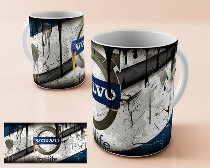 Volvo vintage oil can mug