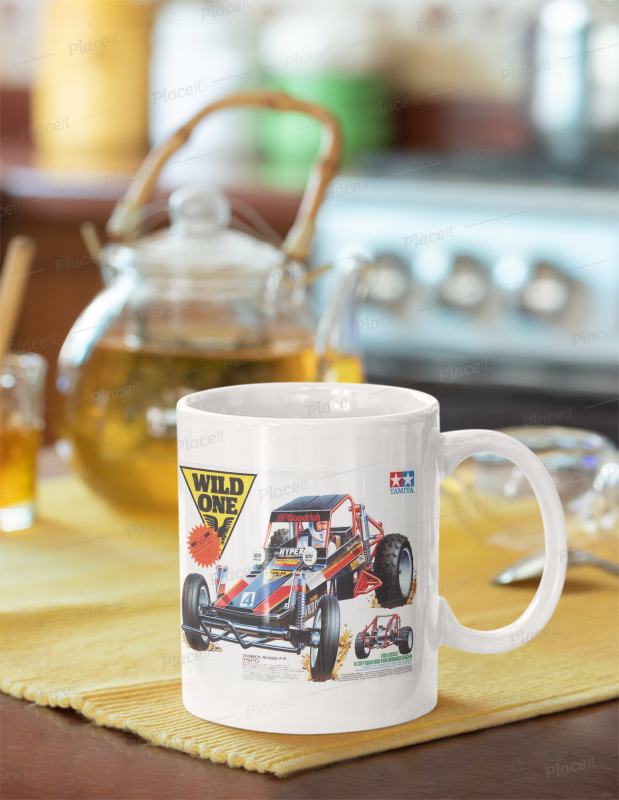 Tamiya wild one box art mug