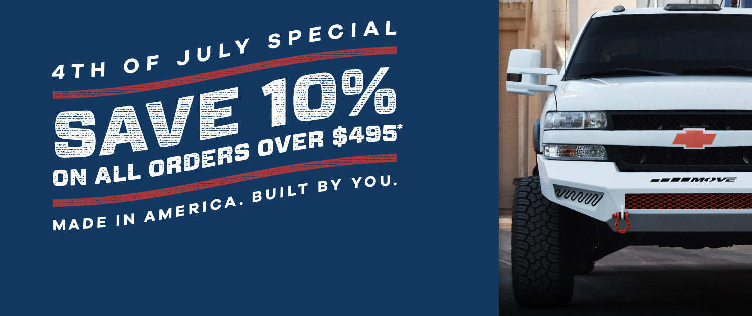 4th of July Special - Save 10% on DIY Bumper Kits