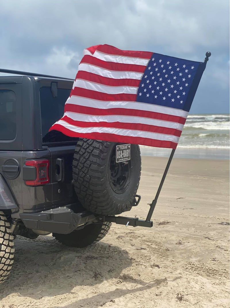 Jeep Hitch Mount Flag Pole Holder