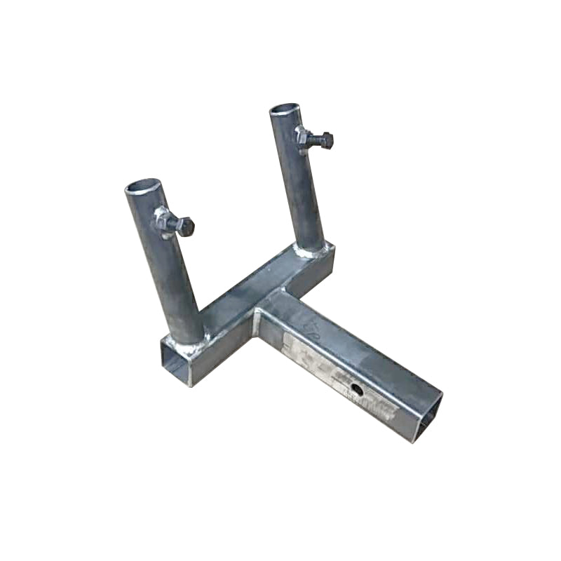 Double Hitch Mount Flag Pole Holder - Side View