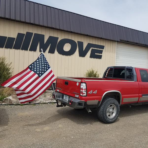 Hitch Mount Flagpole Holder on Truck