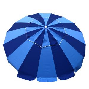 Beachkit Carnivale 240cm Beach Umbrella + Sunraker Table - Royal Navy