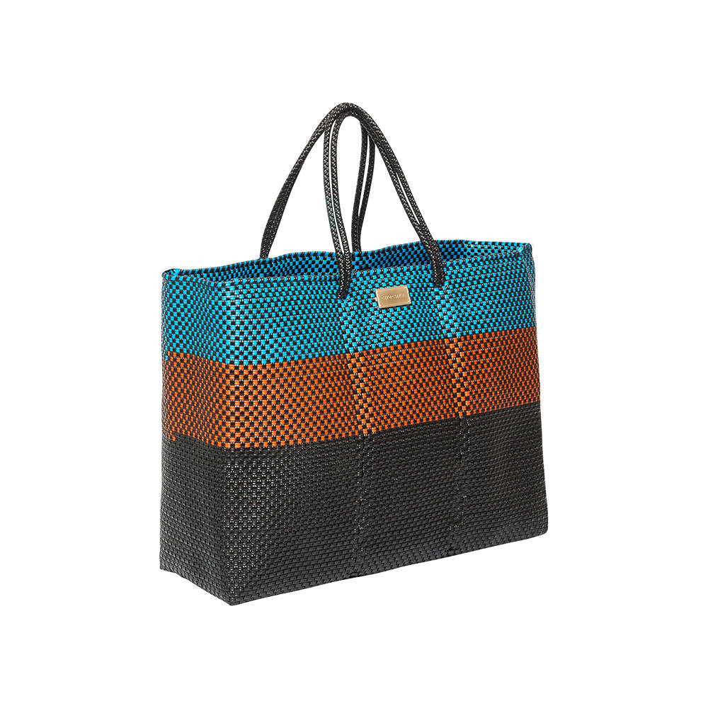Handwoven Mexican Tote - Toluca side