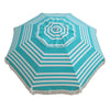 Hollie & Harrie 210cm Fringe Beach Umbrella - Iridescent Stripe
