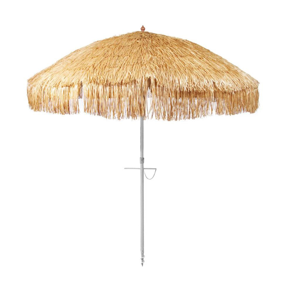 Beachkit Hula 210cm Beach Umbrella - Rafia Thatch