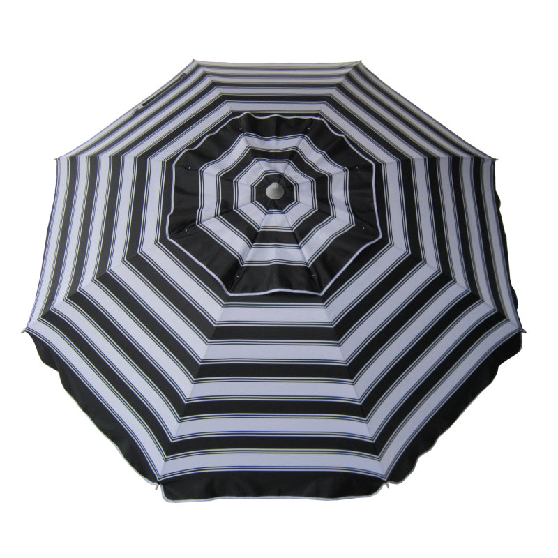 Beachkit Daytripper 210cm Beach Umbrella - Black & White