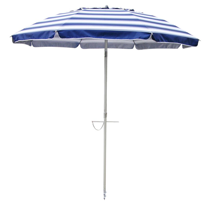 Beachkit Daytripper 210cm Beach Umbrella - Nautical Stripe