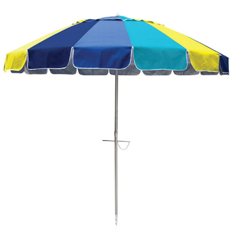 Beachkit Masquerade 240cm Beach Umbrella - Marine