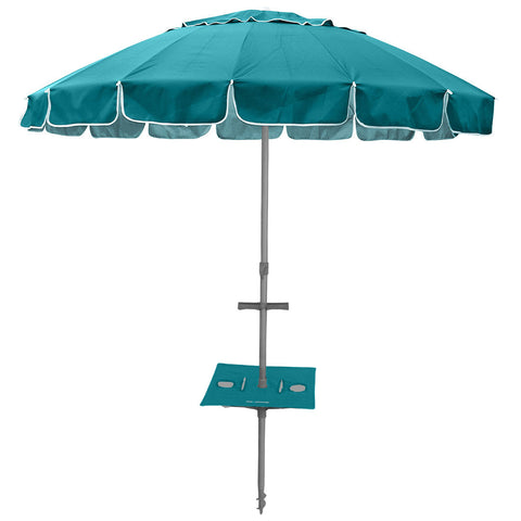 Maxibrella 240cm Beach Umbrella + Sunraker Table - Navy