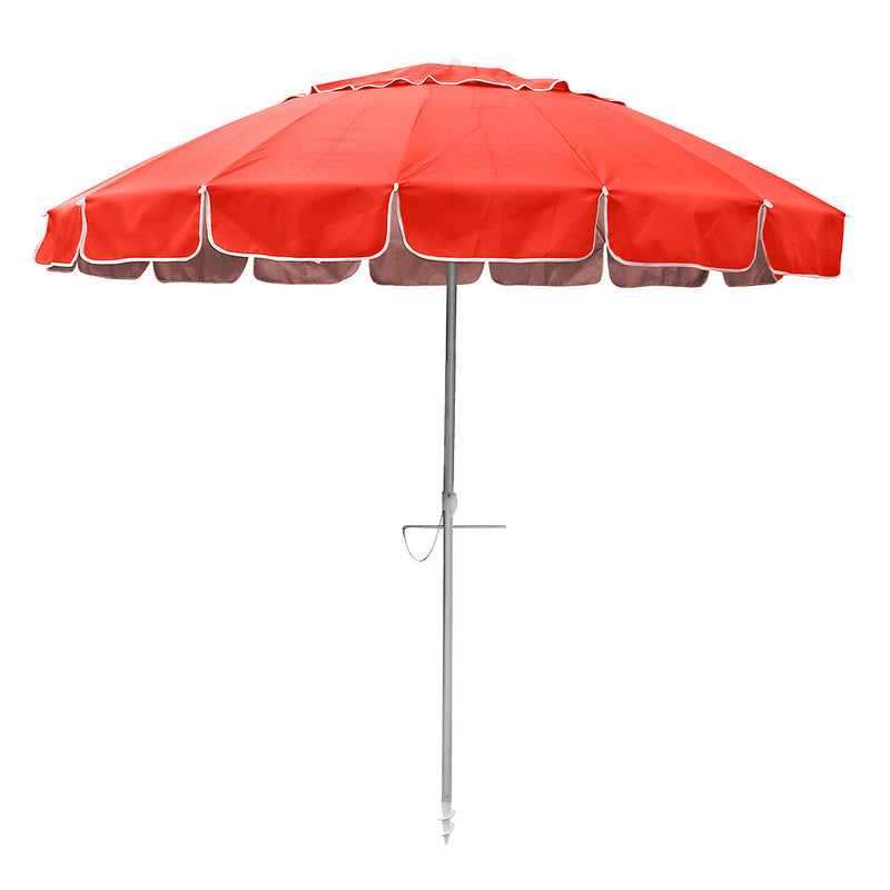 Beachkit Maxibrella 240cm Beach Umbrella - Fluro Orange