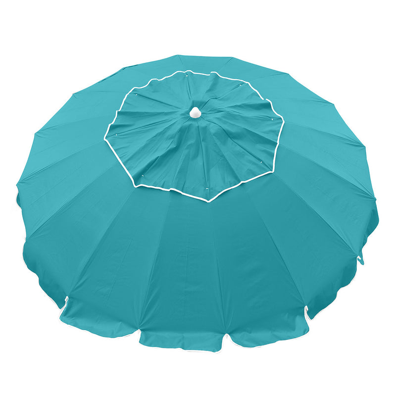 Beachkit Maxibrella 240cm Beach Umbrella + Table - Turquoise