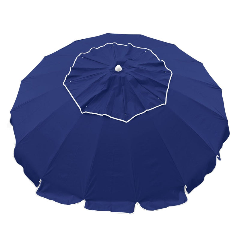 Beachkit Maxibrella 240cm Beach Umbrella + Table - Navy