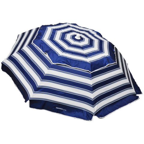 Carnivale 240cm Beach Umbrella + Sunraker Table - Royal Navy