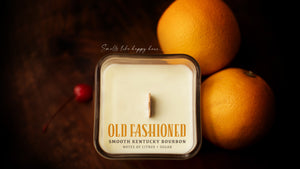 Candles that smell like bourbon Old Fashioned
