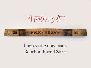 Personalized Barrel Stave for couples