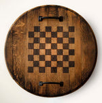 Load image into Gallery viewer, Chessboard & Checkerboard Bourbon Barrelhead