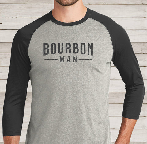 BOURBON MAN Baseball Tee