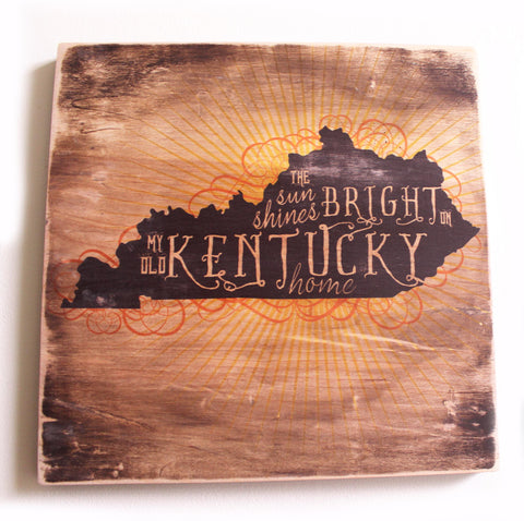 The Sun Shines Bright on My Old Kentucky Home. Wood Print