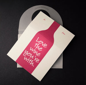 Love the wine you're with | gift tag & pouch