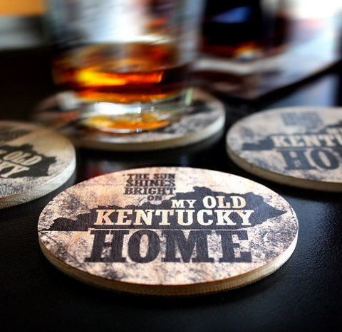 My Old Kentucky Home | Wood Coasters | Set of 4