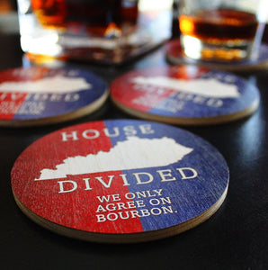 House Divided | Wood Coasters | Set of 4