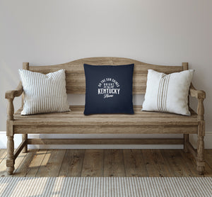 My Old Kentucky Home Throw Pillow Cover