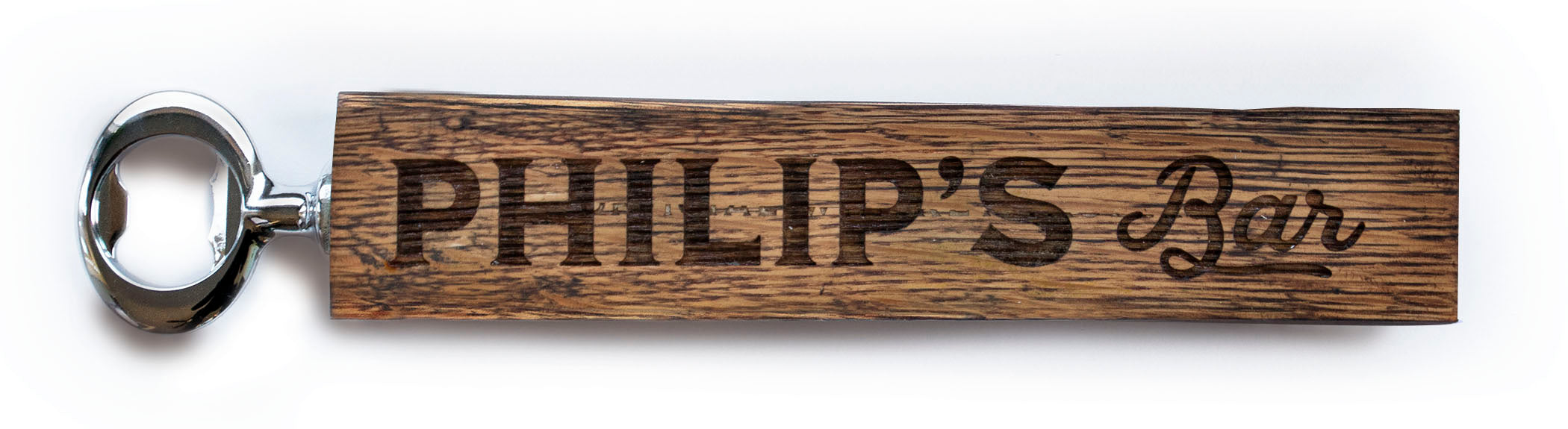 Personalized Bourbon Stave Bottle Opener