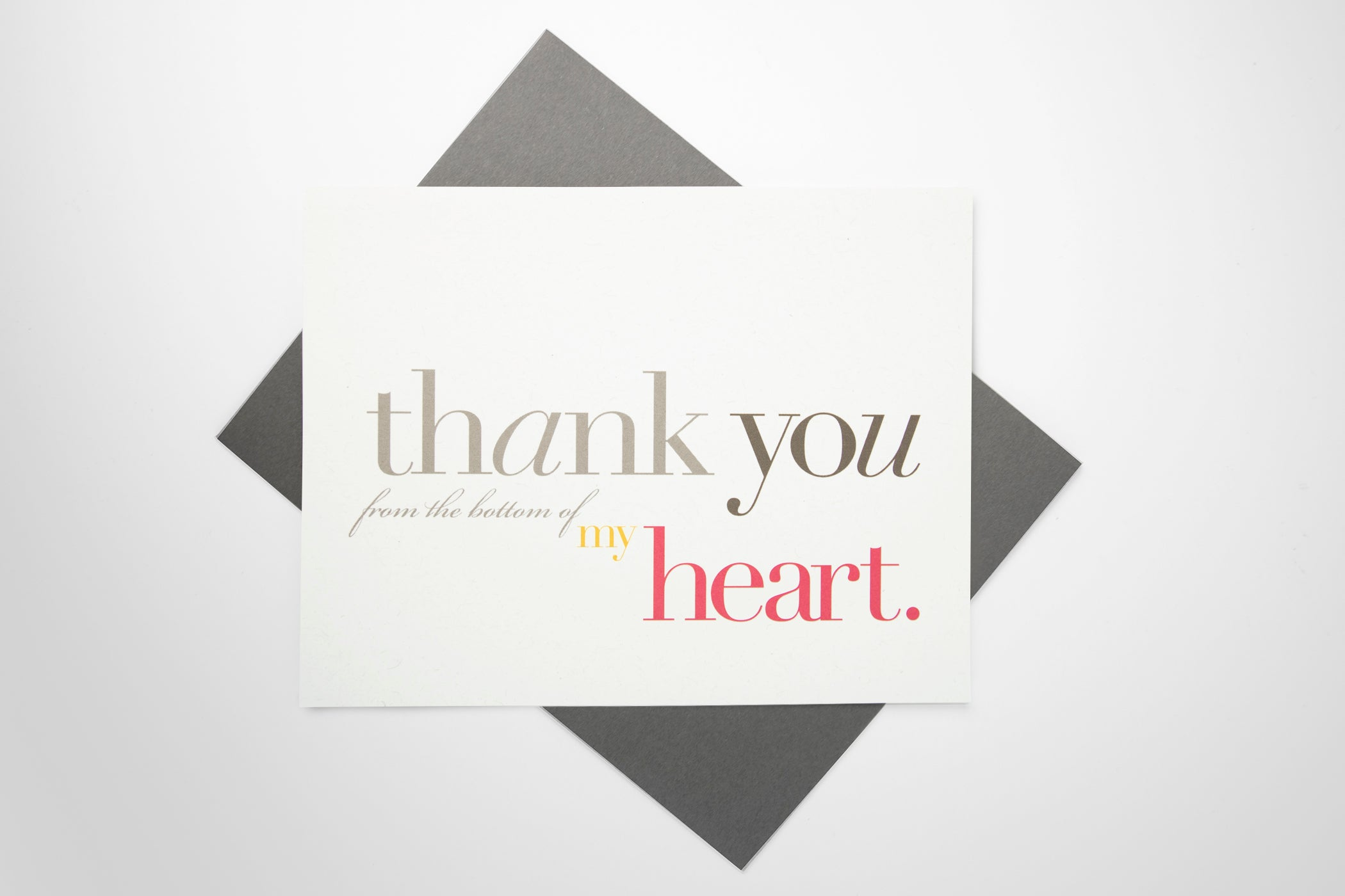 Thank You (from the bottom of my heart) Card