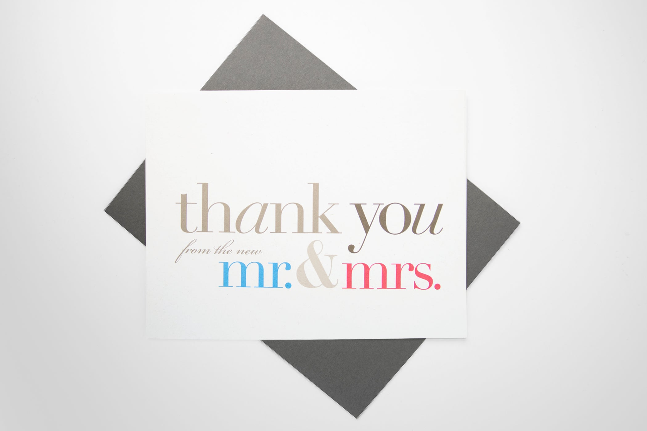 Thank You (from the new Mr. & Mrs.) Card