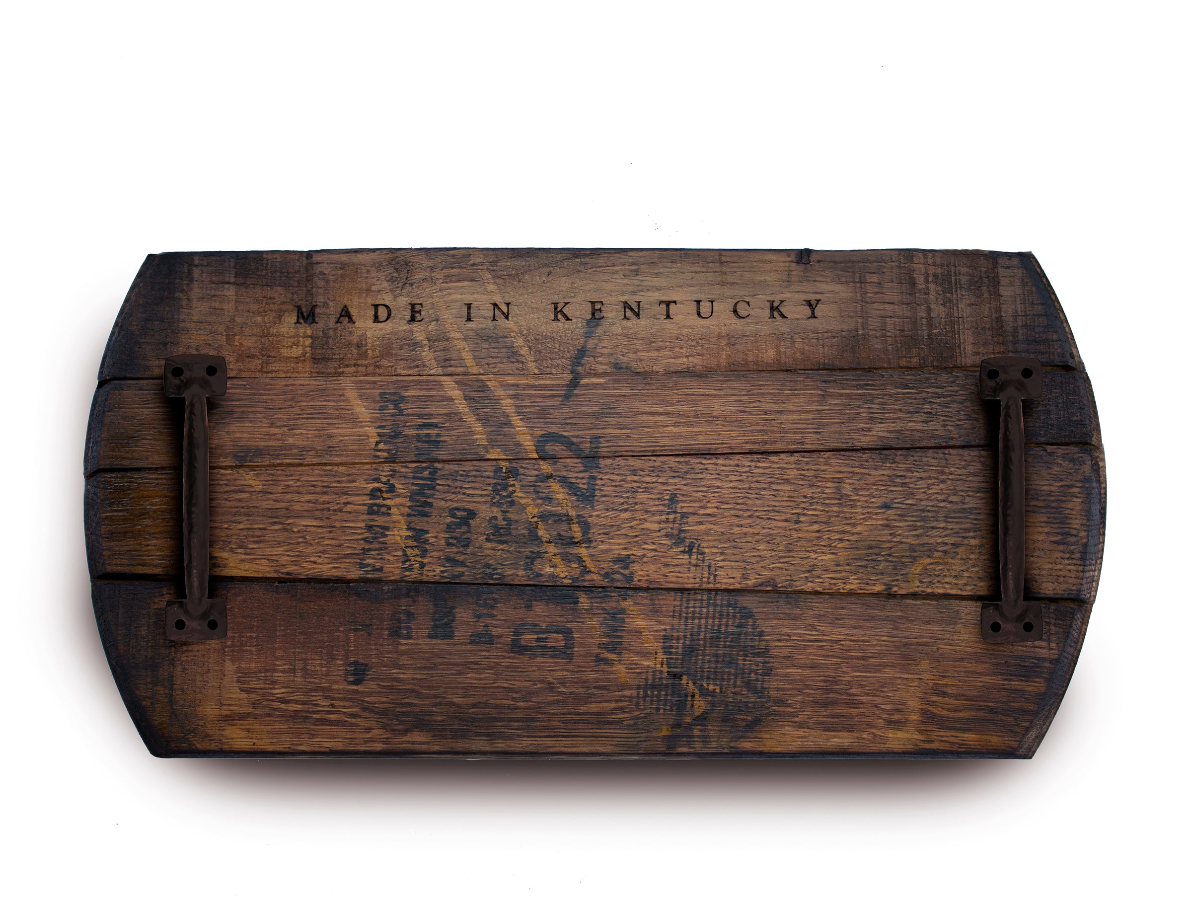 Kentucky Bourbon Barrelhead Serving Tray