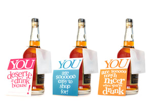 Just for YOU 3 pack  |  gift tags & bottle pouches