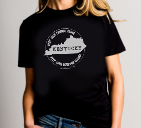 Kentucky Bourbon Black Tee Shirt