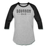 Load image into Gallery viewer, BOURBON MAN Baseball Tee - heather gray/black