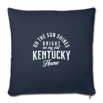 Load image into Gallery viewer, My Old Kentucky Home Throw Pillow Cover - navy
