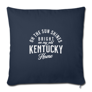 My Old Kentucky Home Throw Pillow Cover - navy